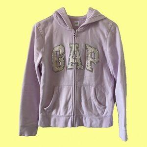 Gap lilac zip-up hoodie